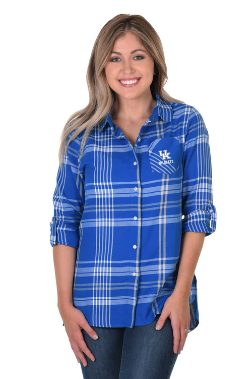University of Kentucky Boyfriend Plaid Shirt