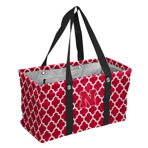 University of Nebraska Quatrefoil Picnic Caddy