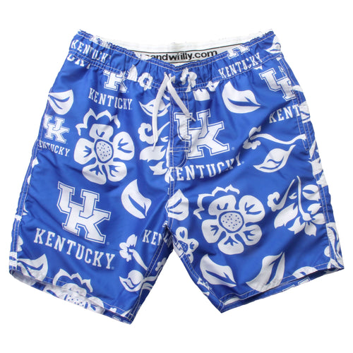 University of Kentucky Boys Floral Swim Trunks