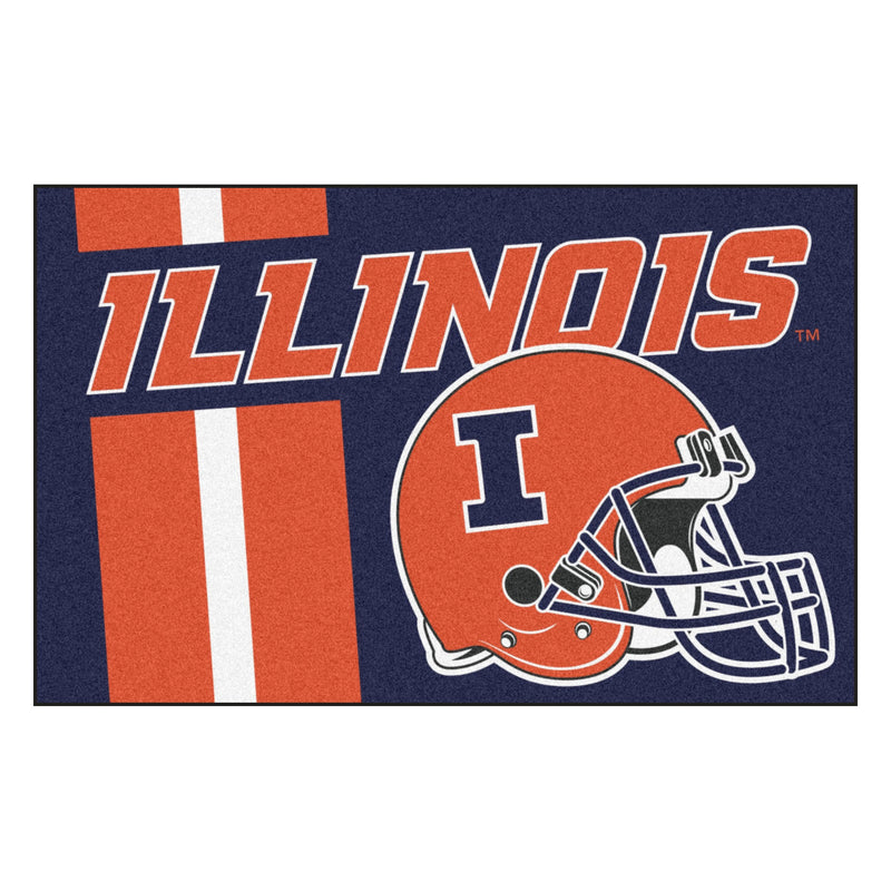 University of Illinois Custom Logo Starter Rug