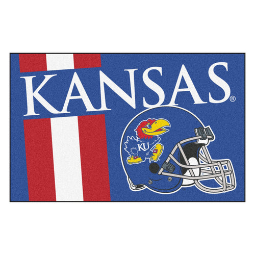 University of Kansas Custom Logo Starter Rug