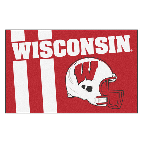 University of Wisconsin Custom Logo Starter Rug