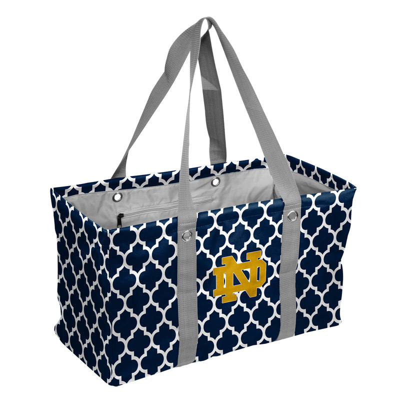 University of Notre Dame Quatrefoil Picnic Caddy