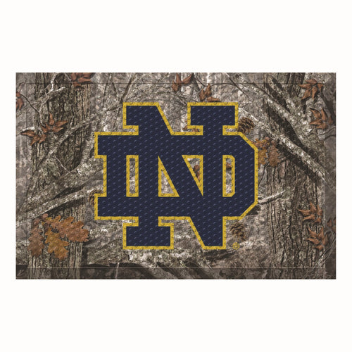 University of Notre Dame Camo Scraper Door Mat