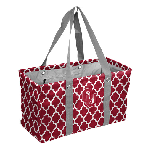 University of Oklahoma Quatrefoil Picnic Caddy