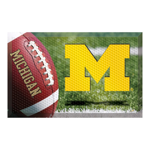 University of Michigan Football Scraper Door Mat