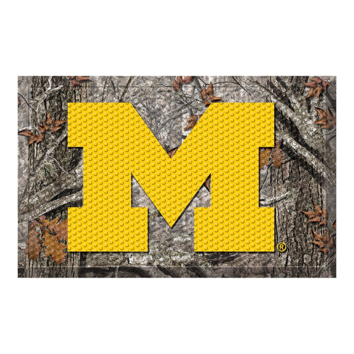 University of Michigan Camo Scraper Door Mat