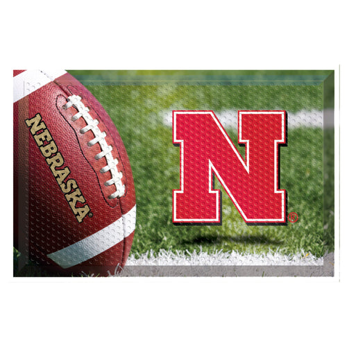 University of Nebraska Football Scraper Door Mat