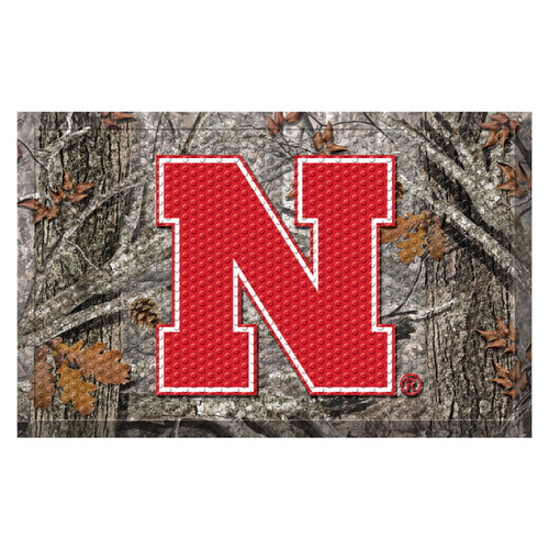 University of Nebraska Camo Scraper Door Mat
