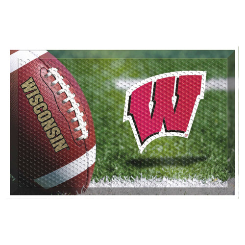 University of Wisconsin Football Scraper Door Mat