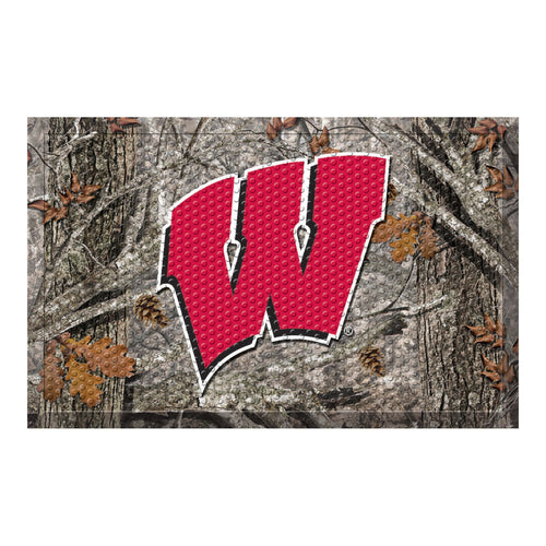 University of Wisconsin Camo Scraper Door Mat