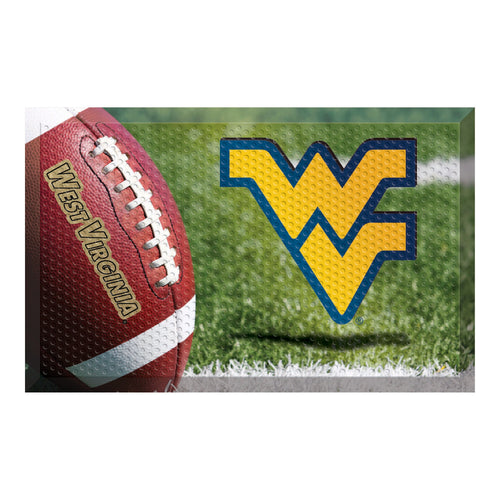 West Virginia University Football Scraper Door Mat