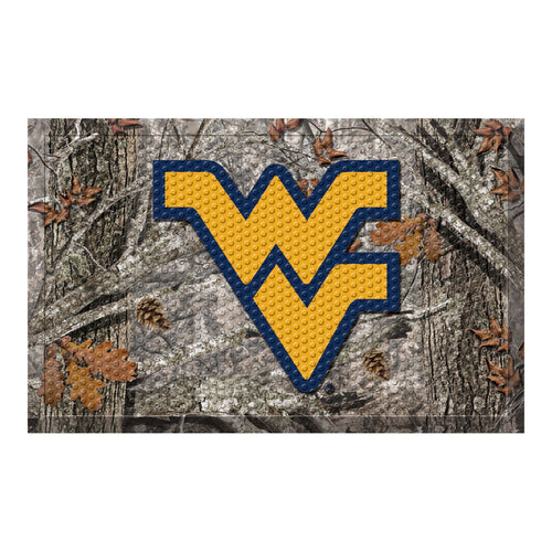 West Virginia University Camo Scraper Door Mat