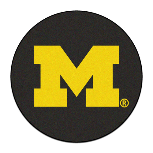 University of Michigan Hockey Puck Area Rug