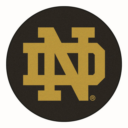 University of Notre Dame Hockey Puck Area Rug