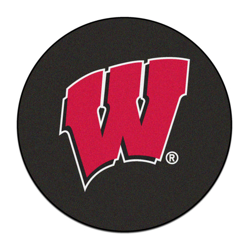 University of Wisconsin Hockey Puck Area Rug