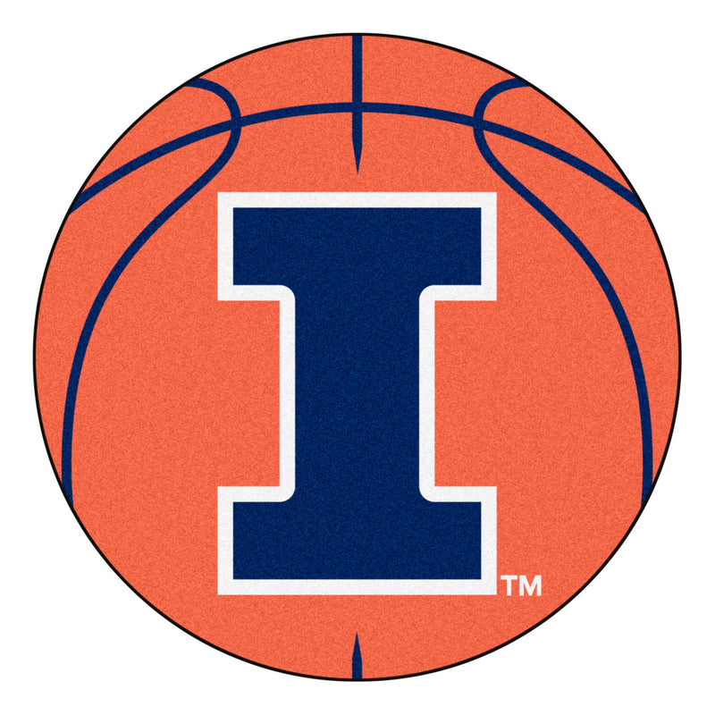 University of Illinois Basketball Area Rug