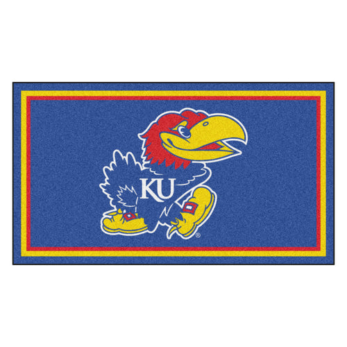 University of Kansas 3' x 5' Ultra Plush Area Rug