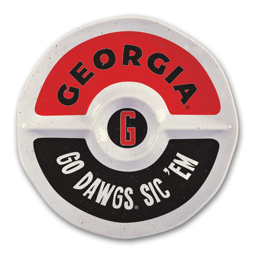 University of Georgia Heavy Weight Melamine Divided Tray