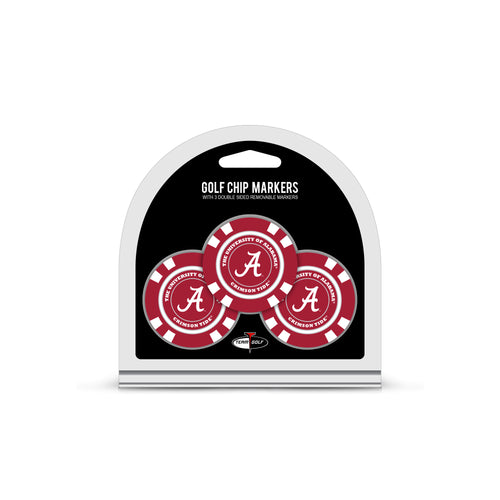 University Alabama 3 Pack Golf Chip Ball Markers