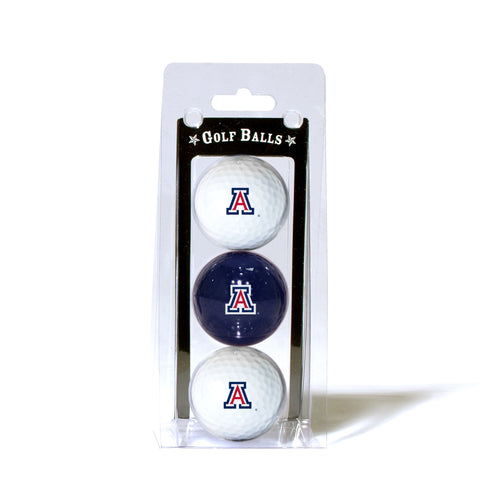 University of Arizona 3-Pack Golf Balls
