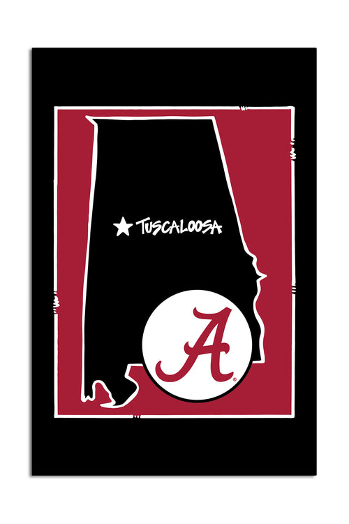 University of Alabama - State Logo Garden Flag