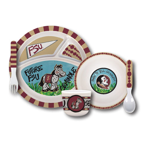Florida State University Melamine Kids Dish Set