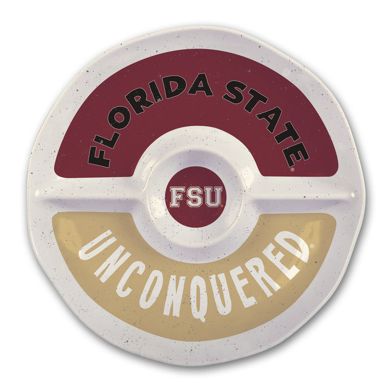 Florida State University Heavy Weight Melamine Divided Tray