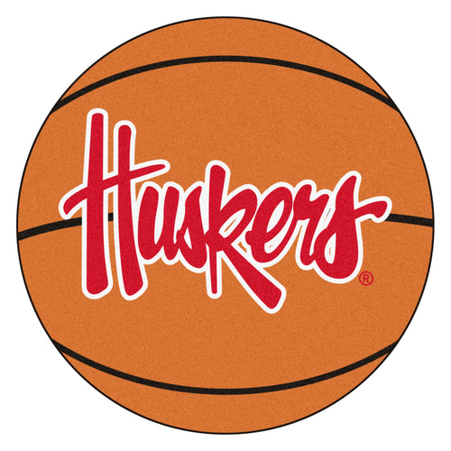 University of Nebraska Huskers Basketball Area Rug