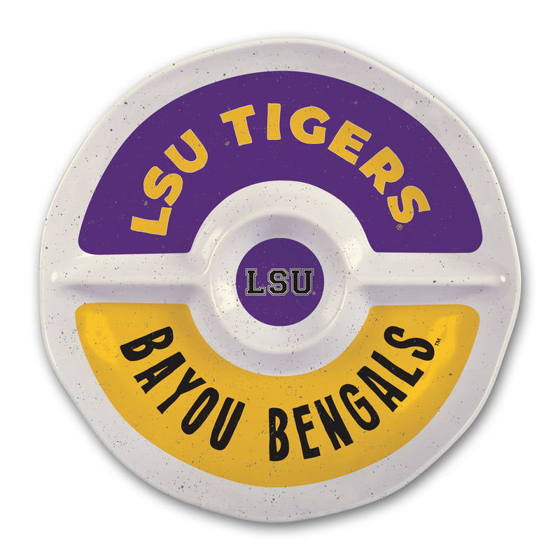 Louisiana State University Heavy Weight Melamine Divided Tray