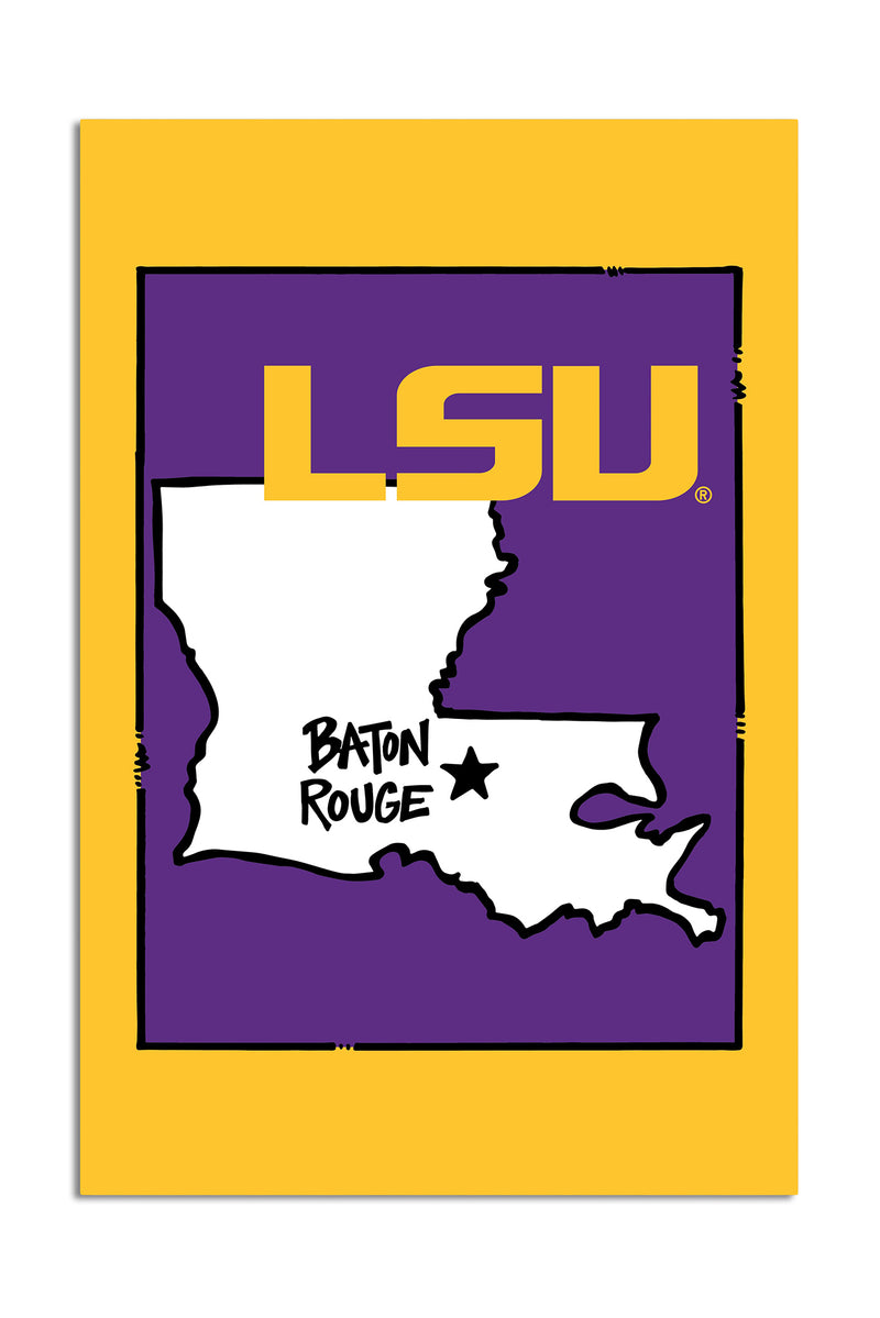 Louisiana State University - State Logo Garden Flag