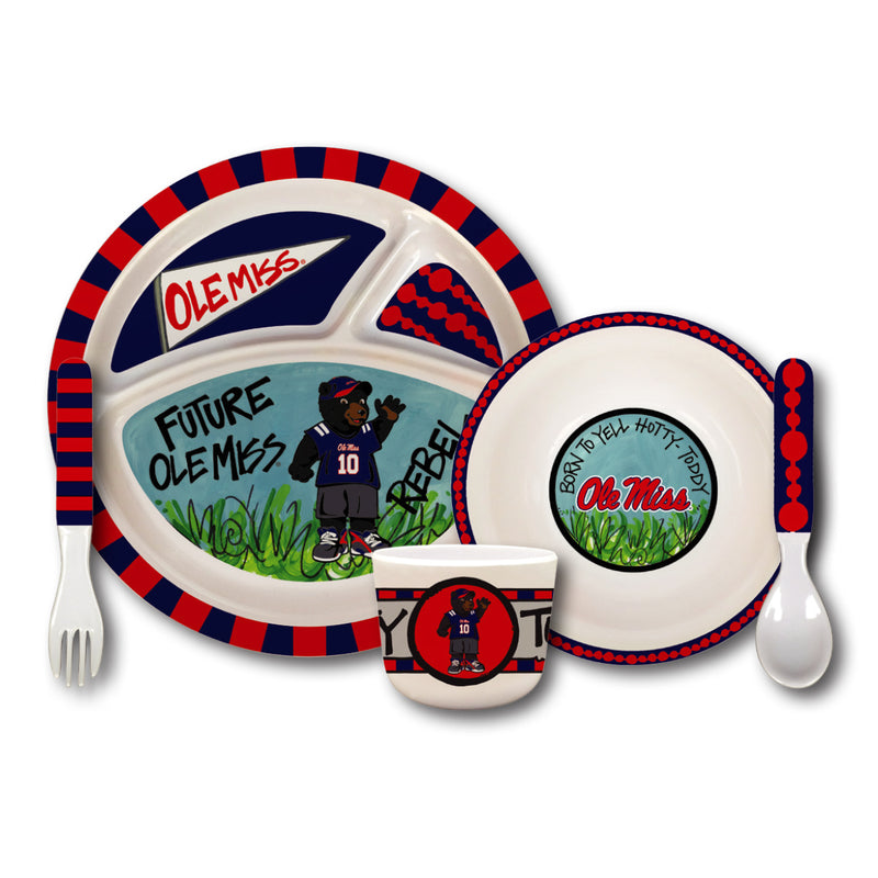 University of Mississippi Melamine Kids Dish Set