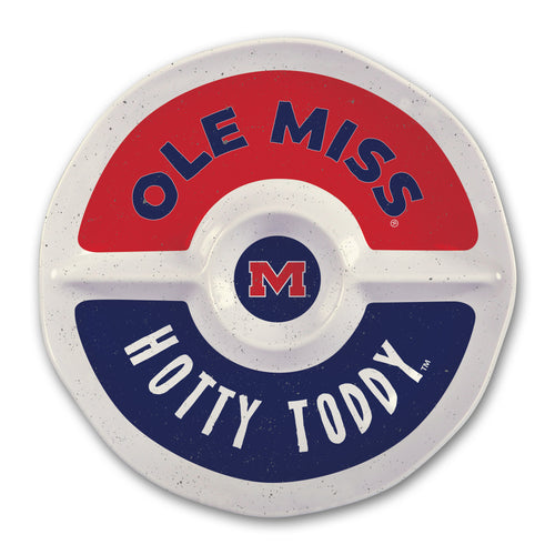 University of Mississippi Heavy Weight Melamine Divided Tray