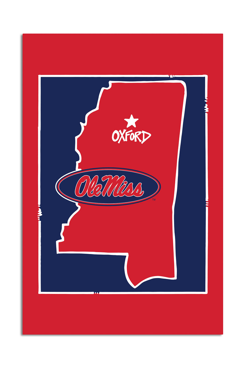 University of Mississippi - State Logo Garden Flag