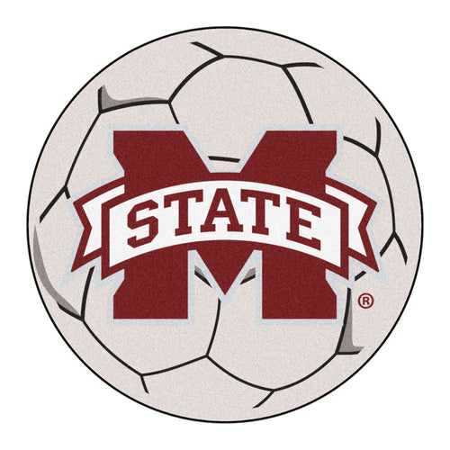 Mississippi State University Soccer Ball Rug
