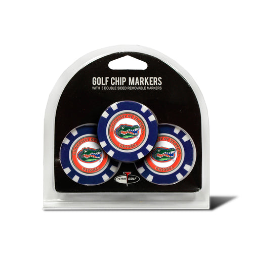 University Florida 3 Pack Golf Chip Ball Markers