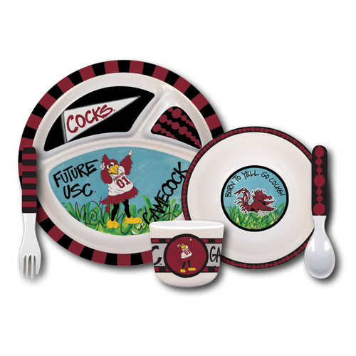 University of South Carolina Melamine Kids Dish Set
