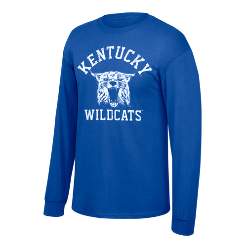 University of Kentucky Men's Vault Wildcat Long Sleeve Royal Tee