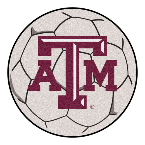 Texas A&M Soccer Ball Rug