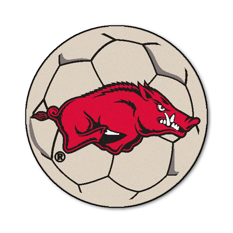 University of Arkansas Soccer Ball Rug
