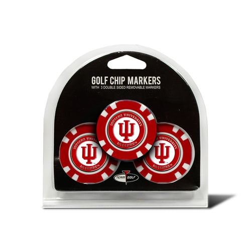 Indiana University 3 Pack Golf Chip Ball Markers