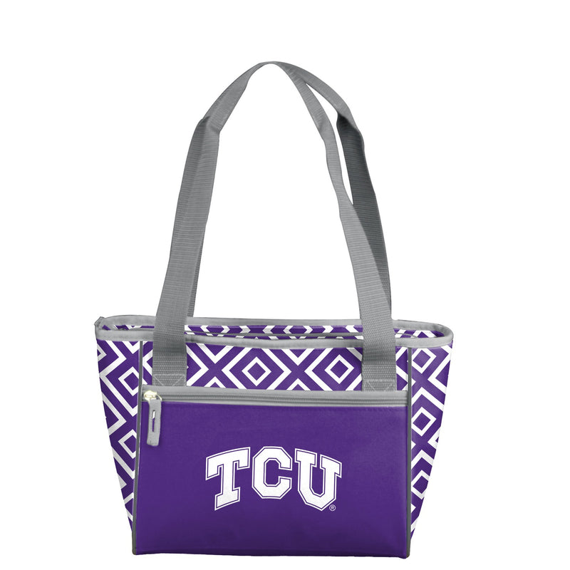 Texas Christian University Double Diamond 16 Can Cooler Tote