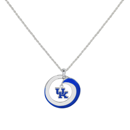 University of Kentucky Swirl Logo Necklace