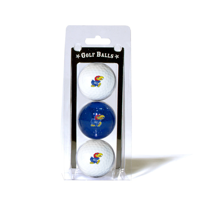 University of Kansas 3-Pack Golf Balls