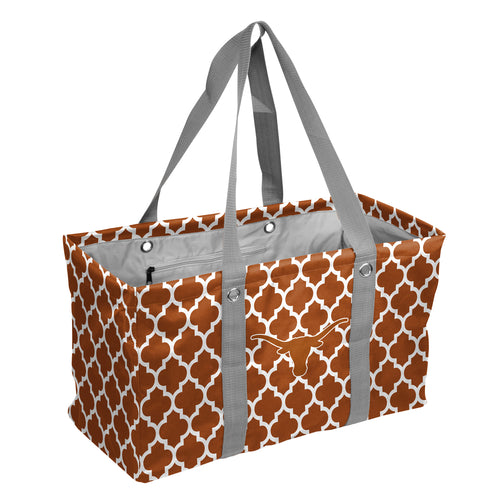 University of Texas Quatrefoil Picnic Caddy