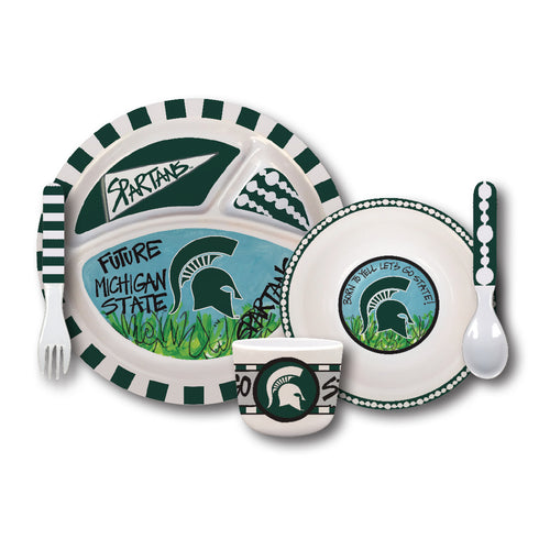 Michigan State University Melamine Kids Dish Set