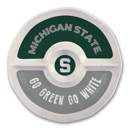 Michigan State University Heavy Weight Melamine Divided Tray