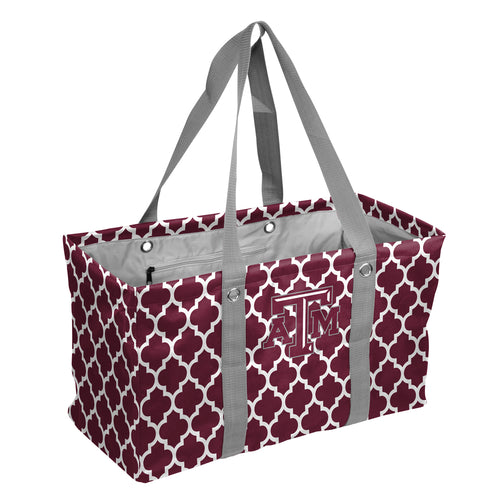 Texas A&M University Quatrefoil Picnic Caddy