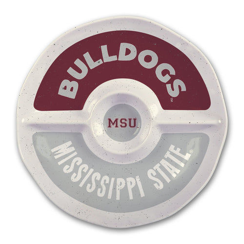 Mississippi State University Heavy Weight Melamine Divided Tray