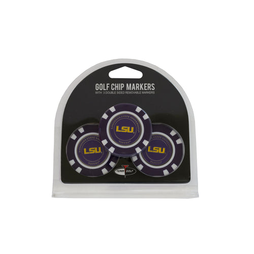 Louisiana State University 3 Pack Golf Chip Ball Markers